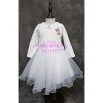 女童白色全棉外套-KA007