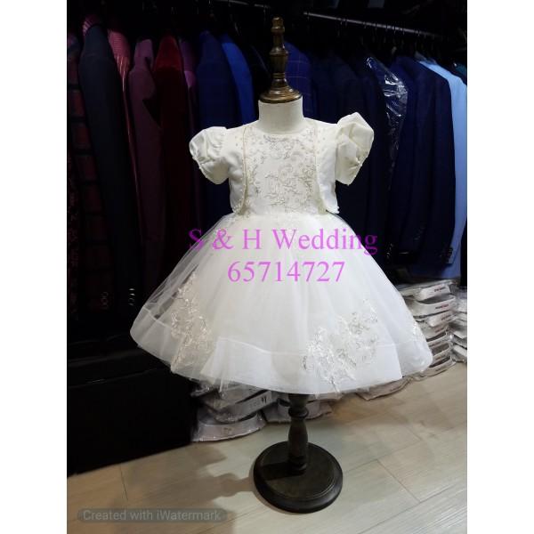 女童白色短袖外套-KA010