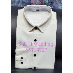男士西裝標準平領彈性恤衫 (購買價) MA017