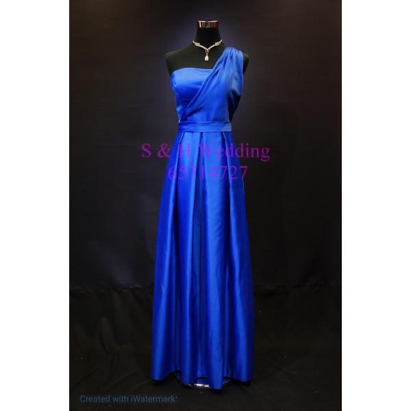 藍色晚裝裙 WE004  (購買價,曾出租一次)