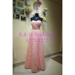 粉色晚裝裙 WE005  (購買價,曾出租一次)