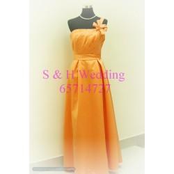 橙色晚裝裙 WE009  (全新購買價)