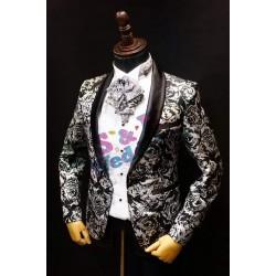 黑色玫瑰花西裝外套 MT016 (購買價,全新,但有破損)