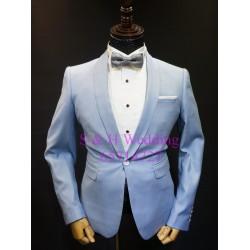 天藍色西裝三件裝 MS006 (購買價,曾出租)