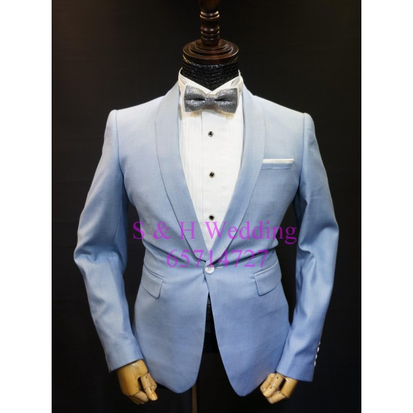 天藍色西裝五件裝 MS006 (購買價,曾出租)