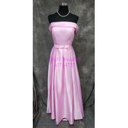 (度身訂造) 粉紫色緞布姊妹裙 SS034